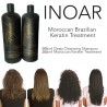 INOAR BRAZILIAN MOROCCAN KERATIN BLOW DRY TREATMENT HAIR STRAIGHTENING 400ML KIT