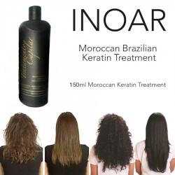 INOAR BRAZILIAN MOROCCAN KERATIN BLOW DRY TREATMENT HAIR STRAIGHTENING 150ML Keratin