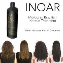 INOAR BRAZILIAN MOROCCAN KERATIN BLOW DRY TREATMENT HAIR STRAIGHTENING 200ML Keratin