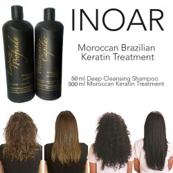 INOAR BRAZILIAN MOROCCAN KERATIN BLOW DRY TREATMENT HAIR STRAIGHTENING 350ML KIT